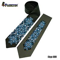 Неперевершена вишита краватка чоловіча Зима