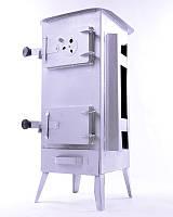 Стальная печь/ буржуйка Acap 15 на 190 м2,15 шамотных кирпичей