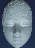 Маска из гипса №3, заготовка, ажурная маска