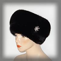 Меховая женская шапка из норки и песца (комбинированная)
