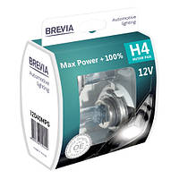 Галогенные лампы Brevia H4 12V +100% (2 шт)