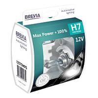 Лампа Галогенная Brevia H7 12V +100% (2 шт)