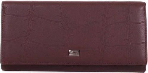 Женский практичный кожаный кошелек WANLIMA (ВАНЛИМА) W72042410013-coffee коричневый
