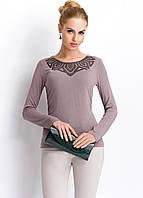 Трикотажная женская блуза с орнаментом и длинным рукавом. Модель Р72 Sunwear, осень-зима 2015