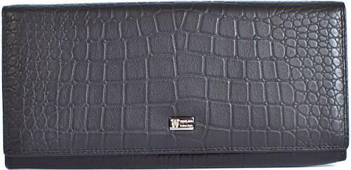 Кожаный классический кошелек для женщин WANLIMA (ВАНЛИМА) W62043790013-black