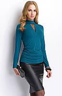 Стильная женская блуза с воротником стойка из вискозы. Модель Р56 Sunwear, коллекция осень-зима 2015
