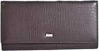 Кожаный кошелек с фактурой под рептилию WANLIMA (ВАНЛИМА) W62043790041-coffee коричневый