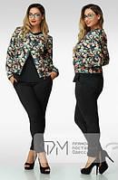 Женская Куртка Цветы р88, фото 1