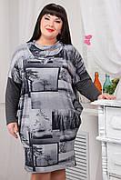 Платье женское свободного силуэта №423