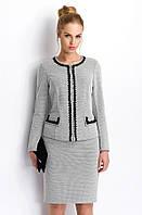 Классическая трикотажная женская юбка светло-серого цвета. Модель РC77 Sunwear, осень-зима 2015