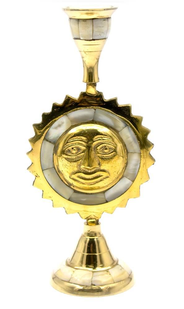 Подсвечник настольный бронзовый Солнце