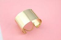 Модный браслет в европейском стиле, браслет-наручник, цвет - золото