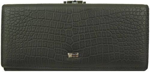 Женский кошелек из натуральной кожи WANLIMA (ВАНЛИМА) W62043790042-black черный