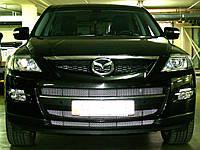 Декоративно-защитная сетка радиатора Mazda CX9 бампер