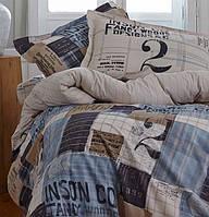 Комплект постельного белья KARACA HOME винтаж  COOL СИНИЙ