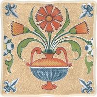 Керамическая плитка Cersanit  DEC VIKING COTTAG 1 ORANGE декор Арт. 134048