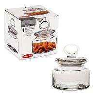 Банка для сыпучих продуктов стекло Kitchen 614мл 98863