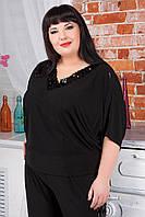 Женский нарядный блузон больших размеров, цвета в ассортименте