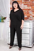 Женские нарядные брюки больших размеров с пайетками