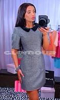 Платье С бархатным воротником