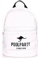 Городской рюкзак 17 л. Poolparty backpack-kangaroo-white