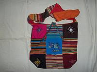 Сумка хлопок цветная с вышивкой Индия