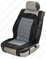 Накидка на сиденье H 96024 GY/BK с подогревом