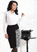 Женская классическая юбка черного цвета с высокой посадкой. Модель Tajda Top-Bis, коллекция осень-зима 2015
