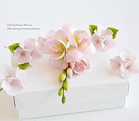 """Свадебный комплект """"Розовый крем"""" (зажим, шпильки)"""