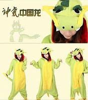 Пижама кигуруми kigurumi костюм зеленый дракон