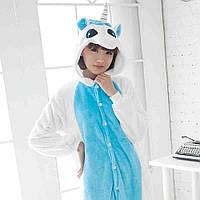 Пижама кигуруми kigurumi костюм Единорог голубой M
