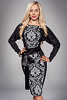 Платье женское модель №213-5,р-р 46,48,50,52 черное