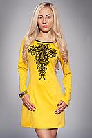 Платье женское мод 352-5 размер 44,46,48 желтое
