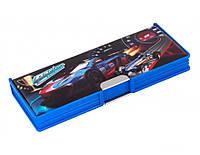 "Пенал пластиковый на магните Cool for school,2 отделения ""Racing. Super Speed"" 7010"