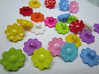 Пуговица цветочек, серединка для бантика, диаметр 15 мм, разные цвета