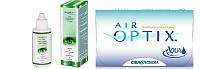 Контактные линзы Air Optix Aqua + раствор I Care 360ml