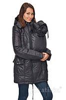 Зимняя теплая куртка для беременных и слингоношения 4в1, черная