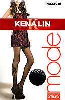 Фантазийные капроновые колготки 30 den Kenalin 85020-R