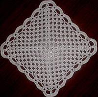 Салфетка вязаная крючком, ручная работа 16x16