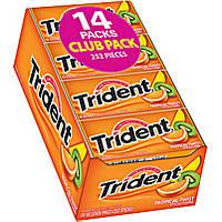 Блок жевательной резинки тропический твист Trident Long Lasting Flavor Tropical Twist 14 шт.