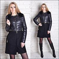 Модное пальто женское - мех кролик