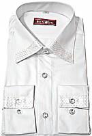 """Рубашка мужская """"Bendu"""". Белая. Длинный рукав"""