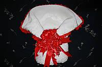 """Конверт для новорожденного """"Жемчужина"""" с красным бантом"""