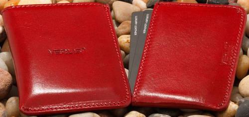 Чехол для визиток (визитница) кожаный Verus (Верус): 09A ML черный; 09B ML коричневый; 09R ML красный