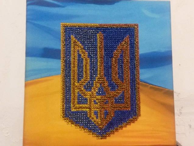 Герб Украины - вышивка бисером