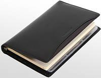 Стильный кожаный блокнот-визитница VIP COLLECTION, 84A PR черный, 84G PR зеленый, 84R PR красный