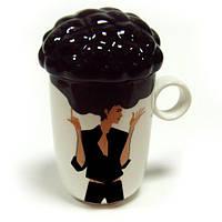 Подарок девушке - кружка керамическая afro cup