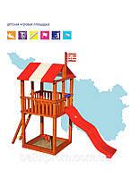 Игровой детский домик из дерева 001