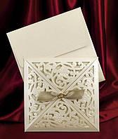 Свадебные пригласительные цвета айвори, красивые приглашения на свадьбу с печатью текста