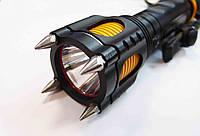 Яркий светодиодный фонарь police x007-13000w 12v t6 с шипами и ножом
